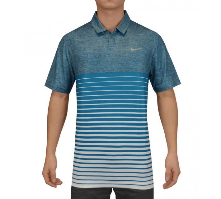 TIGER WOODS BOLD STRIPE POLO BLUE FORCE - SS15 CLOSEOUT