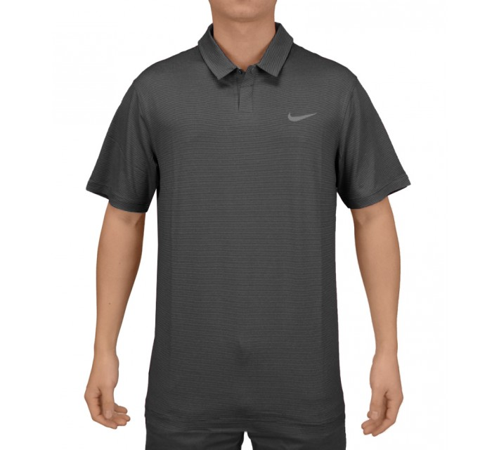 TIGER WOODS CONTROL STRIPE POLO BLACK - SS15 CLOSEOUT