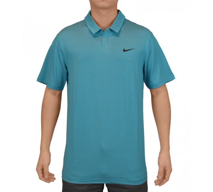 TIGER WOODS CONTROL STRIPE POLO LT BLUE LACQUER - SS15 CLOSEOUT