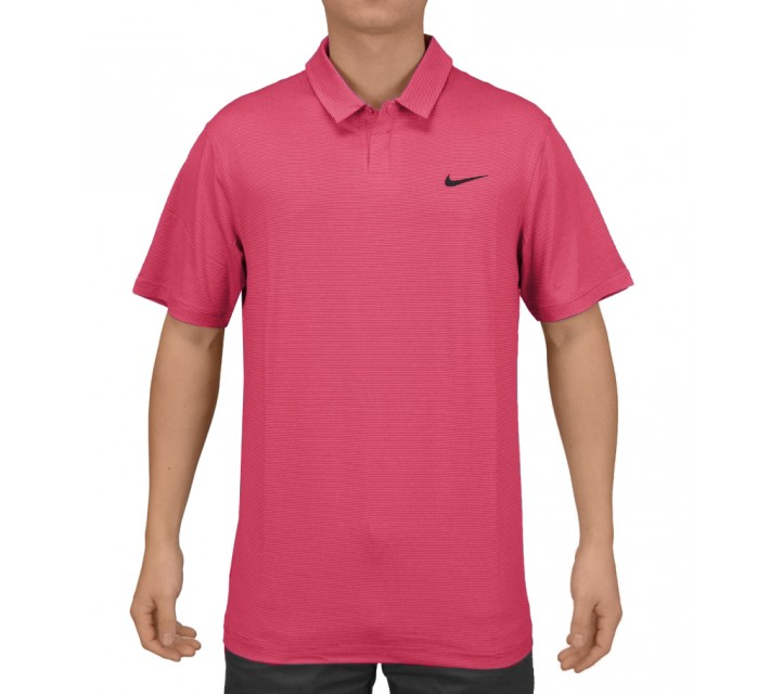 TIGER WOODS CONTROL STRIPE POLO FIREBERRY - SS15 CLOSEOUT
