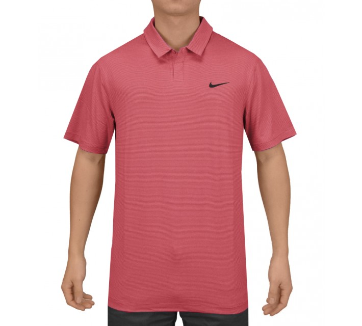TIGER WOODS CONTROL STRIPE POLO GYM RED - SS15 CLOSEOUT