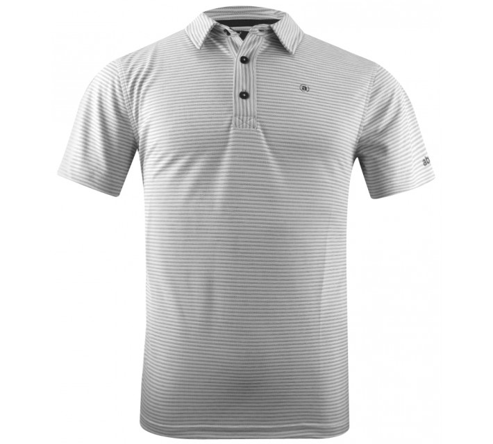 ABACUS STERLING STRIPED POLO WHITE - CORE