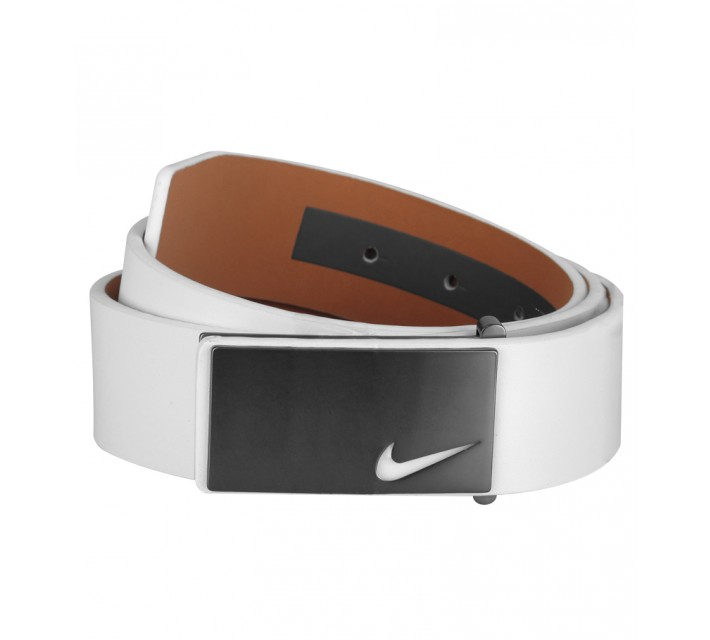 NIKE GOLF TOUR SLEEK MODERN PLAQUE BELT WHITE - AW15 CLOSEOUT