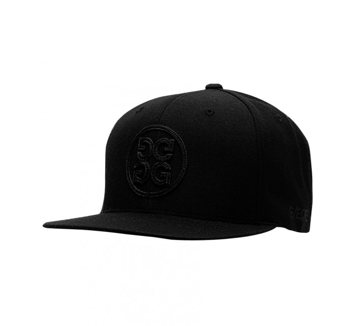 G/FORE CLASSIC 6 PANEL FLAT BRIM HAT ONYX - AW16