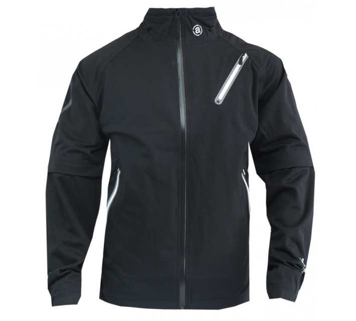 ABACUS PITCH 59 FULL STRETCH RAIN JACKET BLACK - CORE