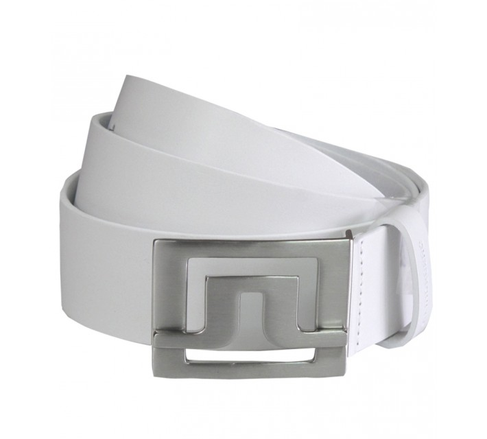 J. LINDEBERG SLATER 40 WHITE LEATHER BELT - AW16