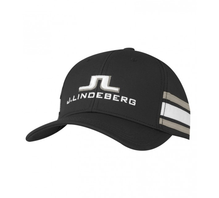 J. LINDEBERG ABER TECH STRETCH CAP BLACK - SS15