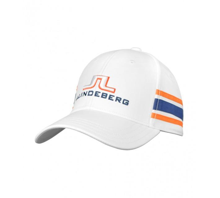 J. LINDEBERG ABER TECH STRETCH CAP WHITE - AW16