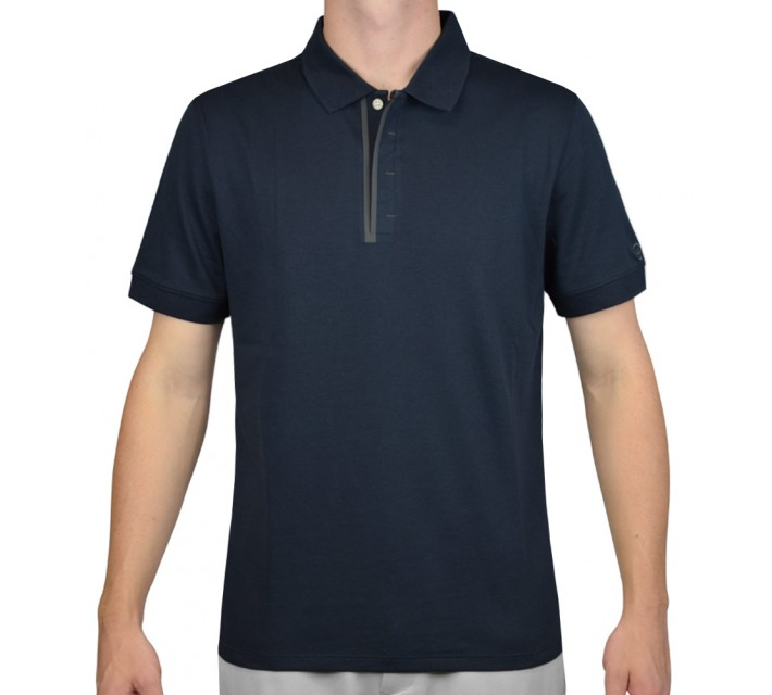AG GREEN LABEL THE ACKERS POLO NAVAL BLUE - SS16
