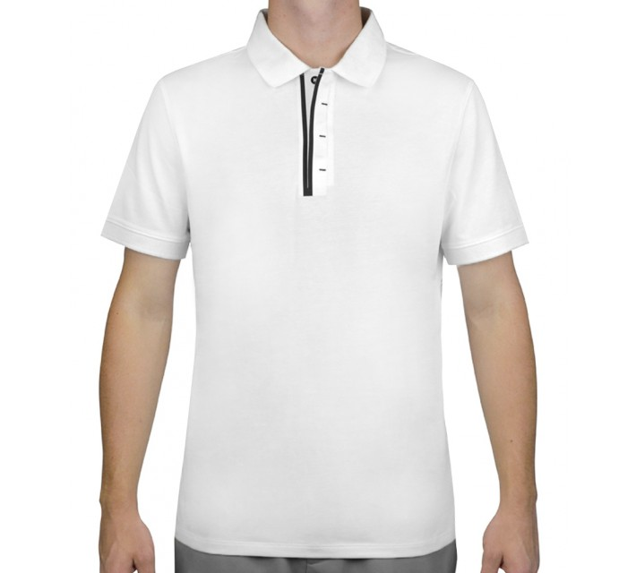 AG GREEN LABEL THE ACKERS POLO BRIGHT WHITE - SS16