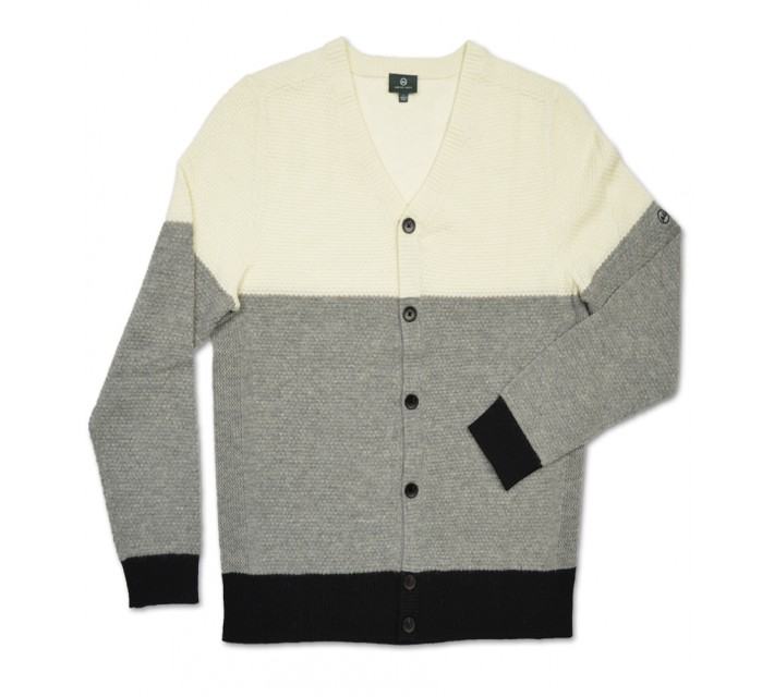 AG GREEN LABEL THE ADMIRAL CARDIGAN NATURAL WHITE - AW15