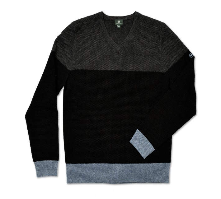AG GREEN LABEL THE ADMIRAL V-NECK SWEATER CAVIAR - AW15