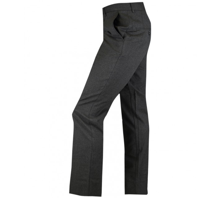 J. LINDEBERG ADNOT NARROW STRETCH FLANNEL PANTS DK GREY - AW15