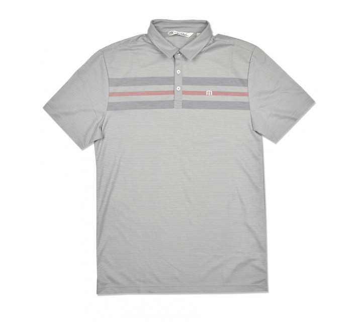 TRAVISMATHEW ADRIFT GOLF SHIRT LUNAR ROCK - SS16