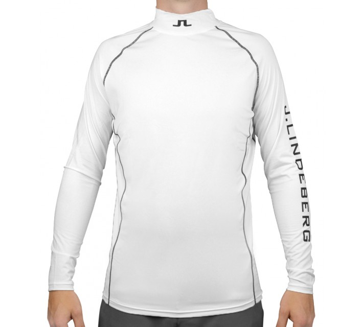J. LINDEBERG AELLO SLIM SOFT COMPRESSION SHIRT WHITE - AW15