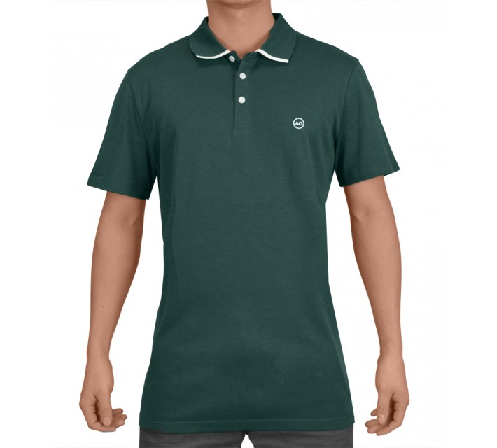 AG GREEN LABEL THE FADE POLO EMERALD - SS15