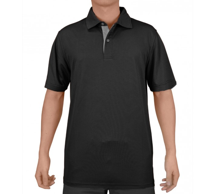 AUR ALTERNATE GOLF POLO BLACK - SS15