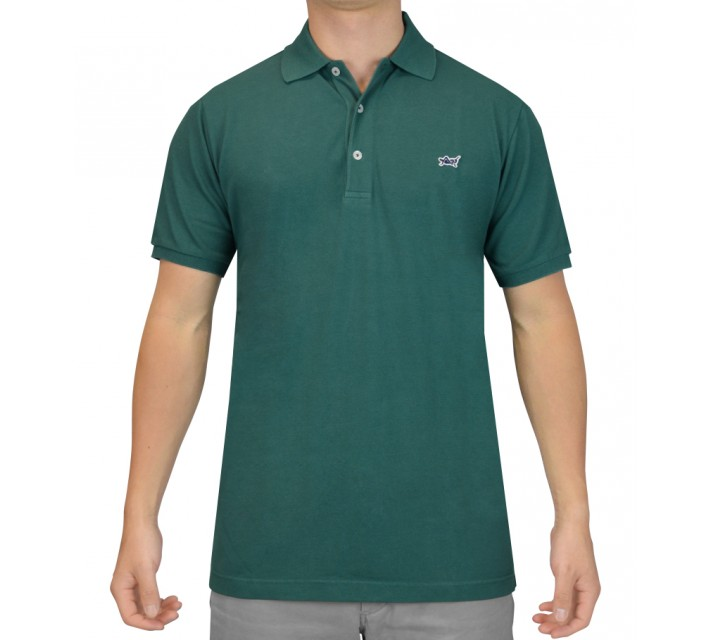 CRIQUET AMERICAN MADE PIQUE POLO SHIRT DARK GREEN - SS15
