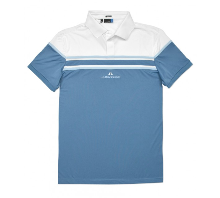 J. LINDEBERG ARKELL TX JERSEY POLO BLUE DUST - SS16