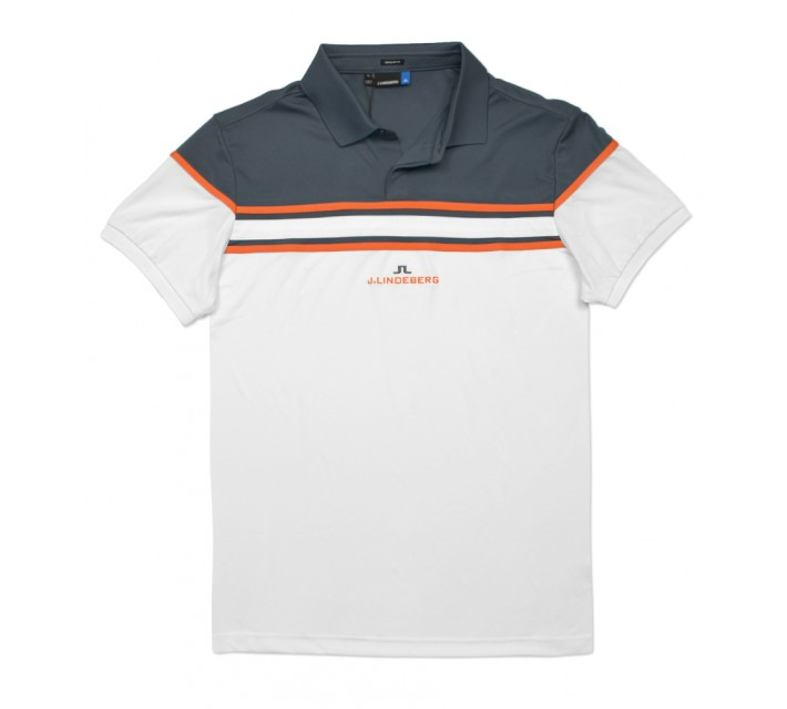 J. LINDEBERG ARKELL TX JERSEY POLO DARK GREY - SS16