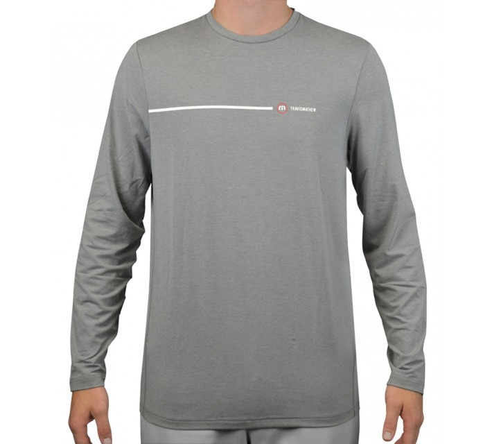 TRAVISMATHEW RED ARMSTRONG LS CREW HEATHER GRIFFIN - AW15
