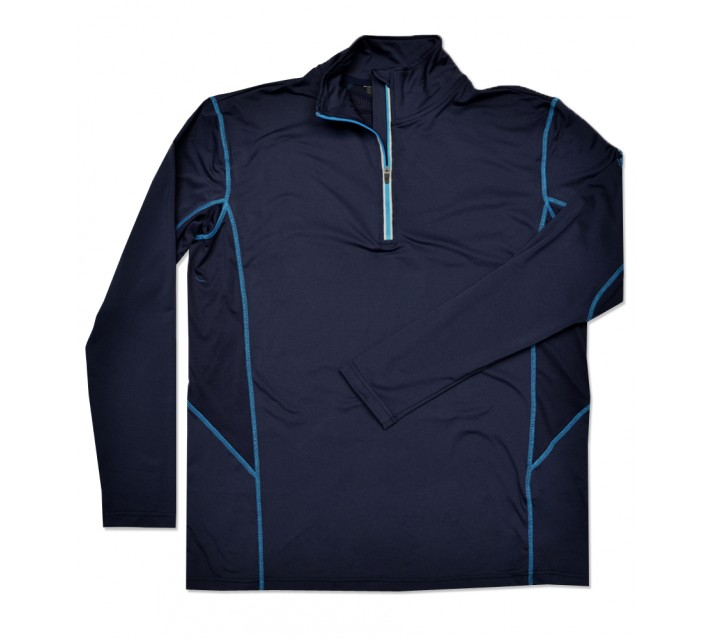 ABACUS ASKERSUND 1/4 ZIP PULLOVER MIDNIGHT BLUE - SS16