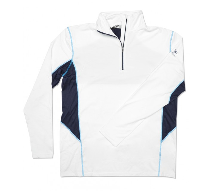 ABACUS ASKERSUND 1/4 ZIP PULLOVER WHITE - SS16