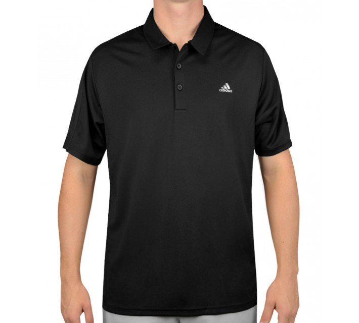 ADIDAS CLIMACOOL 3-STRIPES DEBOSSED POLO BLACK - AW15