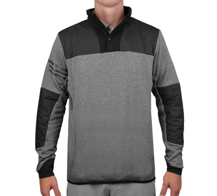 ADIDAS CLIMAHEAT PRIME HYBRID PULLOVER SHELL DARK GREY HEATHER - AW15