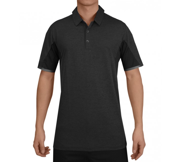 ADIDAS CLIMACHILL ENERGY MOTION BONDED HEATHER POLO BLACK - SS15