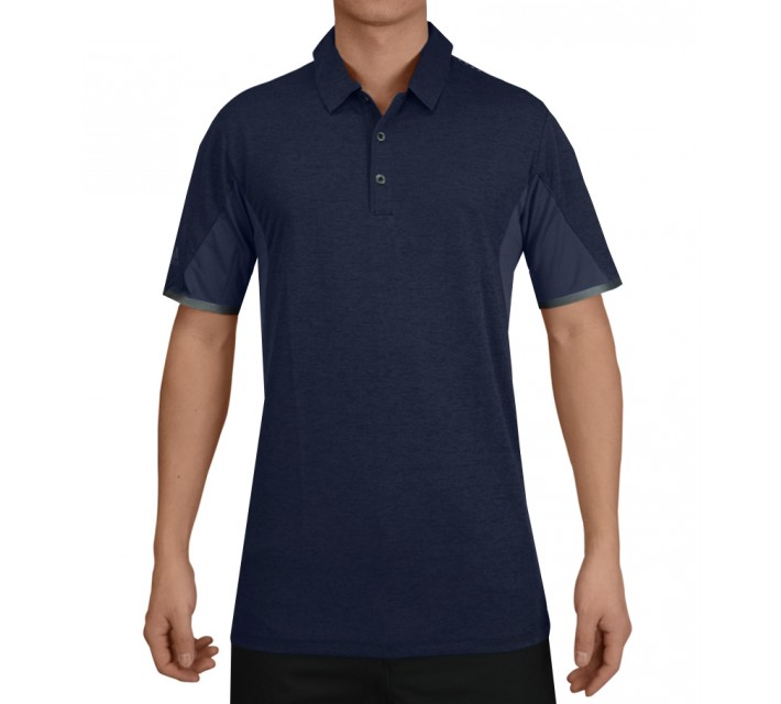 ADIDAS CLIMACHILL ENERGY MOTION BONDED HEATHER POLO NIGHT INDIGO - SS15