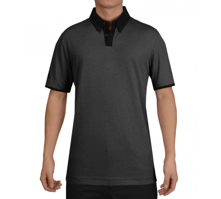 ADIDAS CLIMACHILL HEATHER SOLID POLO BLACK - SS15