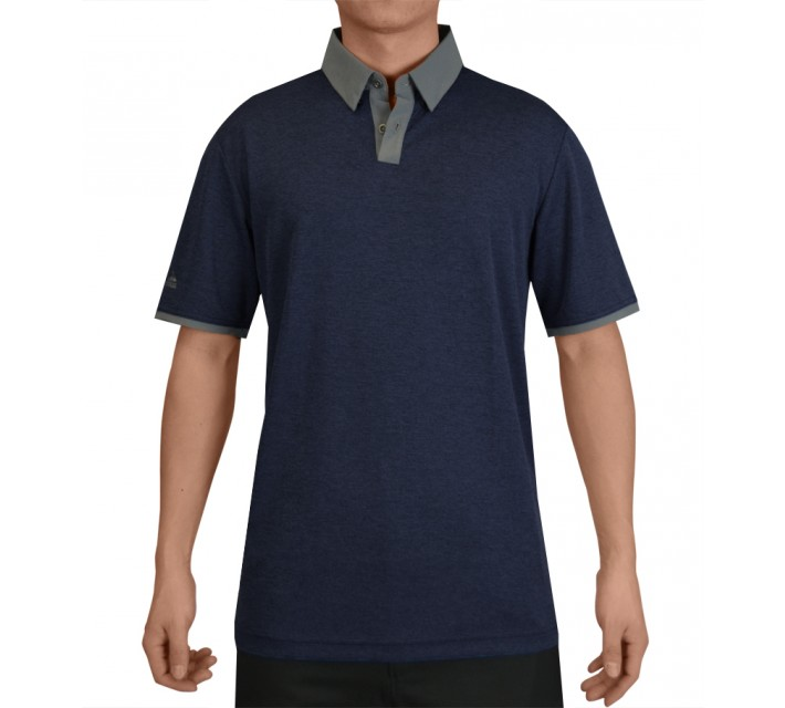 ADIDAS CLIMACHILL HEATHER SOLID POLO NIGHT INDIGO - SS15