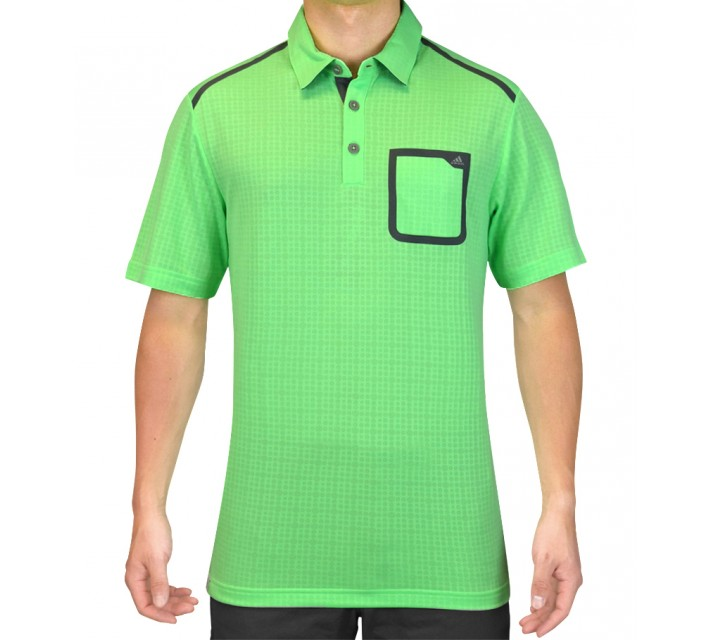 ADIDAS CLIMACOOL ENERGY DOT POCKET POLO LIGHT FLASH GREEN - SS15