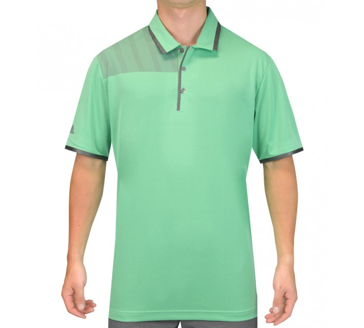 ADIDAS CLIMACHILL BONDED PRINT POLO BRIGHT GREEN - SS15