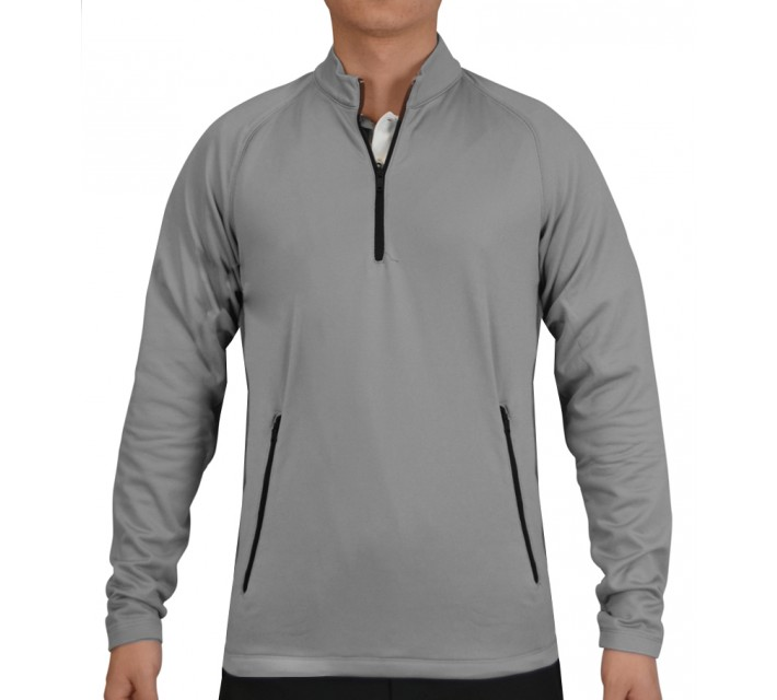 ADIDAS CLIMAHEAT 1/2 ZIP TRAINING TOP MID GREY - SS15