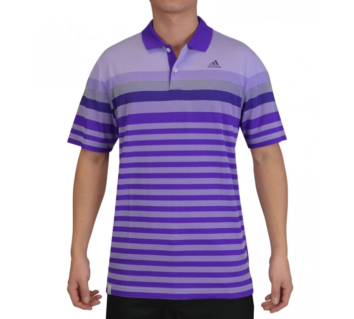 ADIDAS CLIMACOOL GRADIENT BIRDSEYE STRIPE POLO NIGHT FLASH - SS15