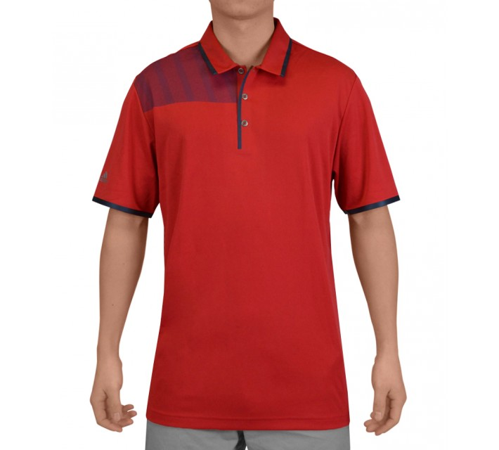 ADIDAS CLIMACHILL BONDED PRINT POLO BOLD RED - SS15