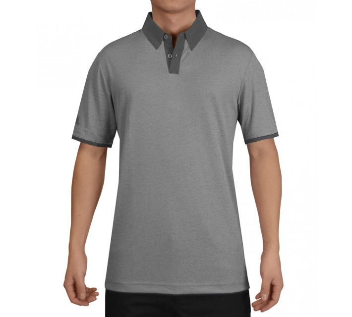ADIDAS CLIMACHILL HEATHER SOLID POLO MID GREY - SS15