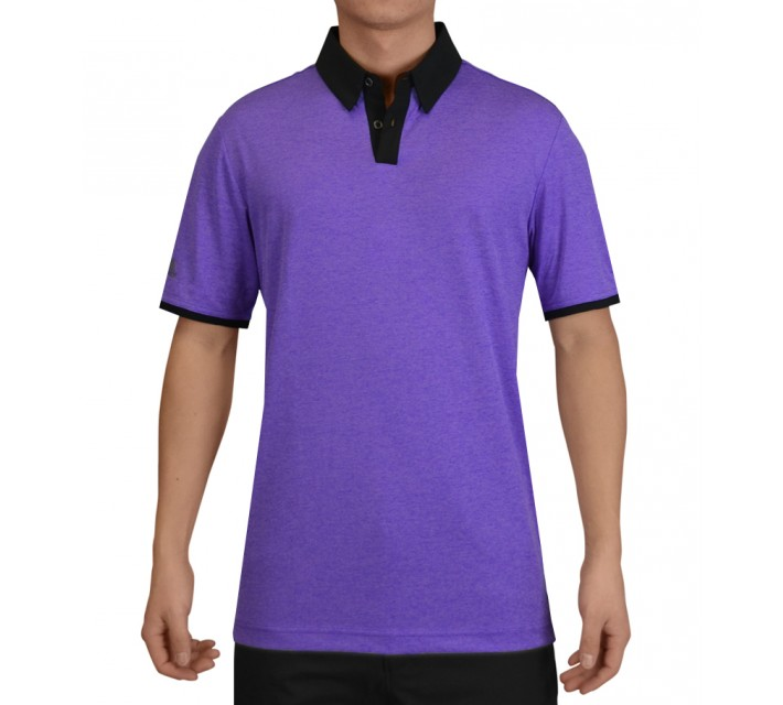 ADIDAS CLIMACHILL HEATHER SOLID POLO NIGHT FLASH - SS15