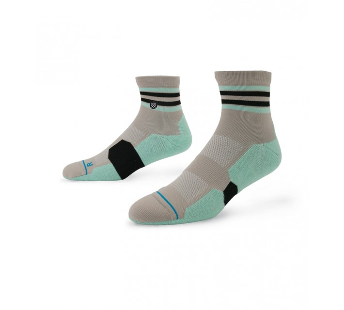 STANCE GOLF SOCKS BACK NINE QUARTER SEA FOAM - AW15