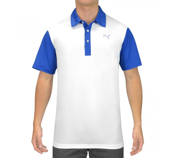 PUMA BACK PRINT POLO WHITE/STRONG BLUE - SS15