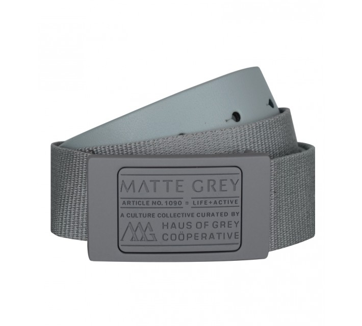 MATTE GREY BADGE BELT MATTE GREY/LIGHT GREY- CORE