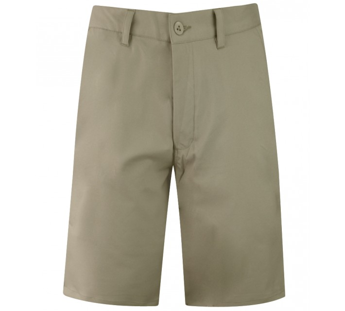 MATTE GREY BADGE GOLF SHORT KHAKI - CORE