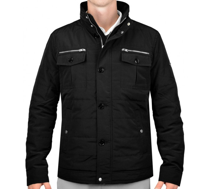 J. LINDEBERG BAILEY STRUCTURED POLY JACKET BLACK - AW15
