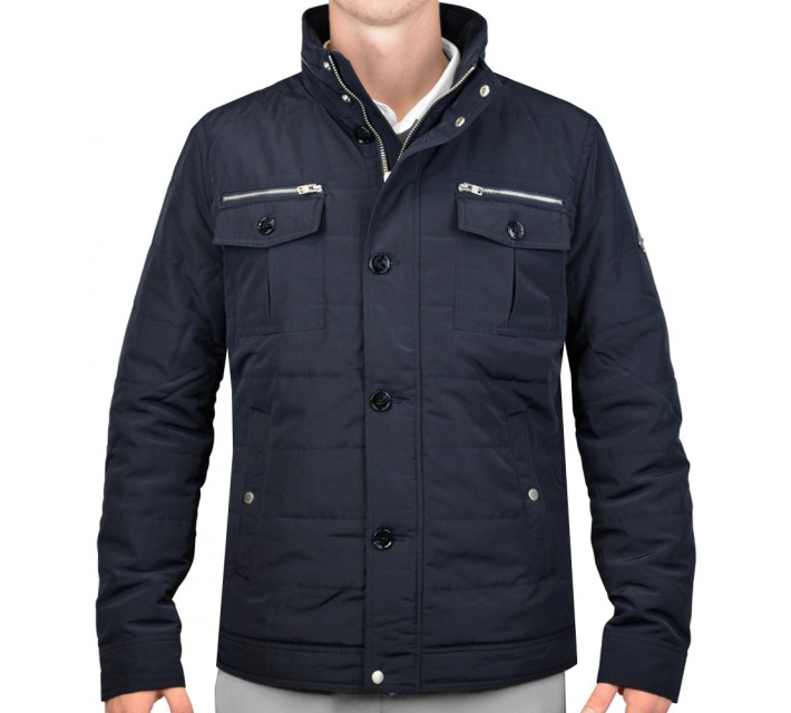J. LINDEBERG BAILEY STRUCTURED POLY JACKET NAVY - AW15