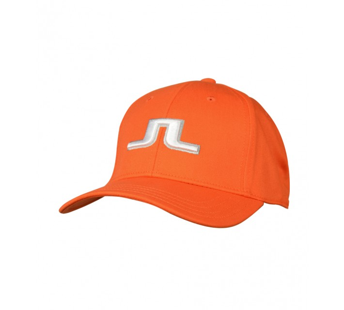 J. LINDEBERG BANJI FLEXI TWILL CAP RACING ORANGE - AW16