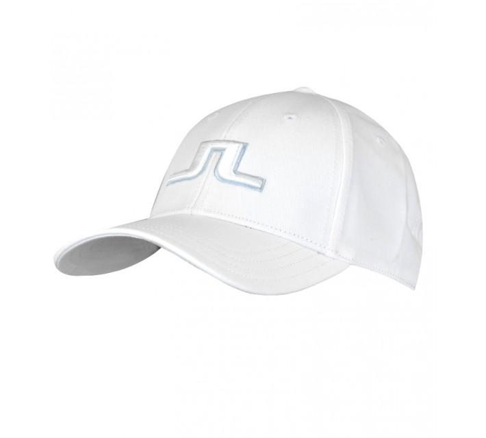J. LINDEBERG BANJI FLEXI TWILL CAP WHITE - SS16