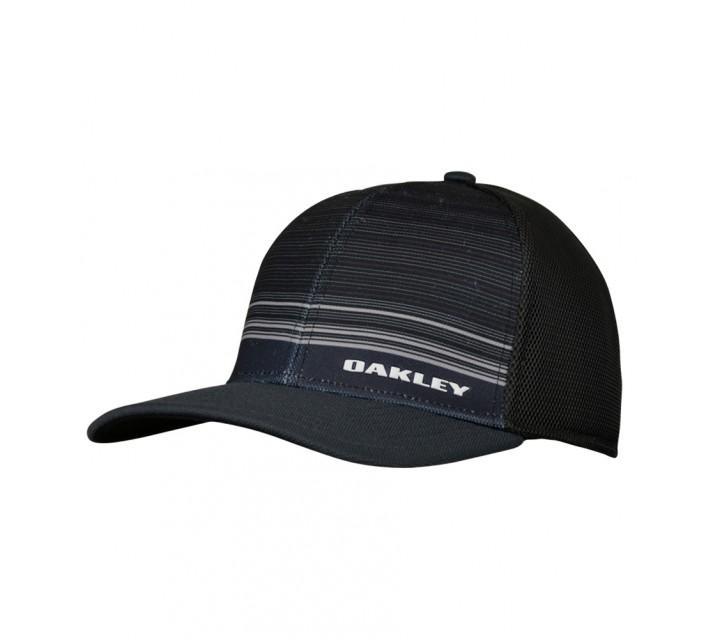 OAKLEY SILICON BARK TRUCKER 4.0 PRINT HAT JET BLACK - SS16