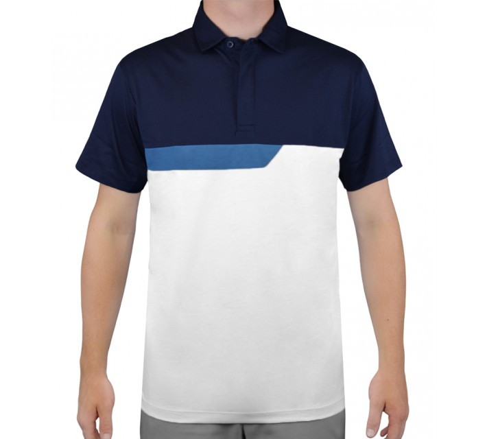 DEVEREUX BASTILLE GOLF POLO NAVY/FRENCH BLUE - AW15